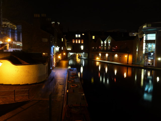 Gas Street Basin at night