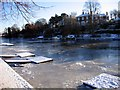 SJ4065 : The Frozen River Dee at Chester by Jeff Buck
