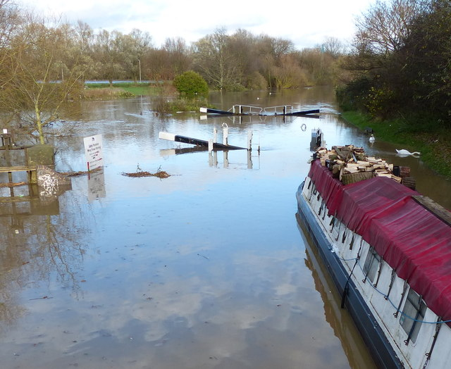 Heavy flooding at Belgrave Lock