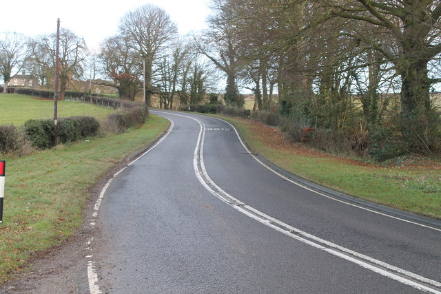 A153 road at Cawkwell Hill