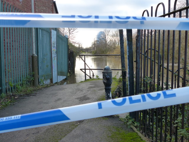 Flooding along the Grand Union Canal in Belgrave