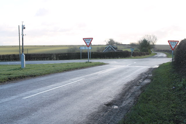 Crossroads near Cawkwell