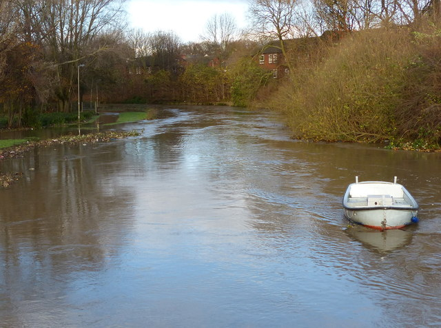 Flooding along the River Soar at Belgrave