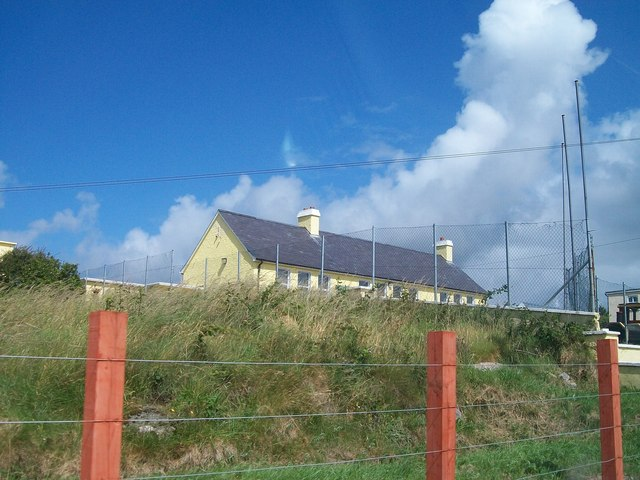The perimeter fences of St Columba's National School, Acres