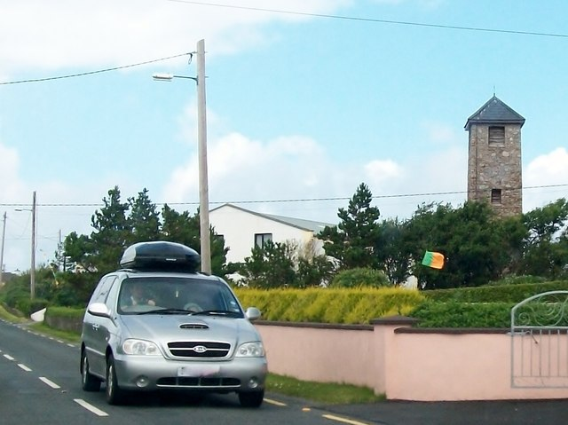 The belfry and community centre of St Columba's Church, Lackenagh