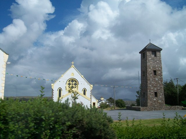 St Columba's Catholic Chapel and Belfry on the R259 at Lackenagh