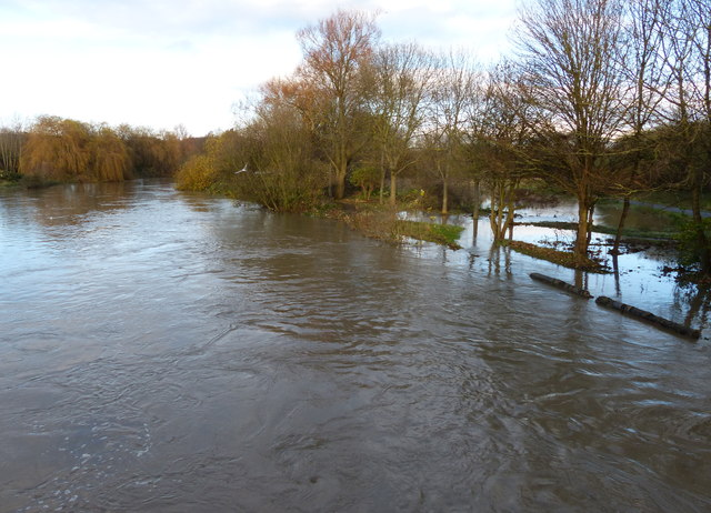 Flooding along the River Soar