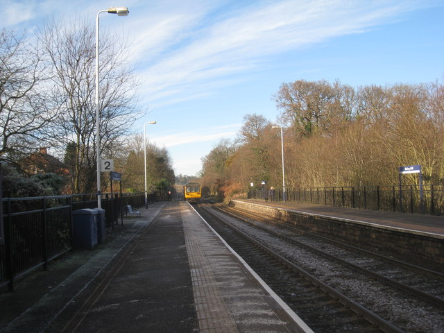 A Hexham train departs from Riding Mill Station