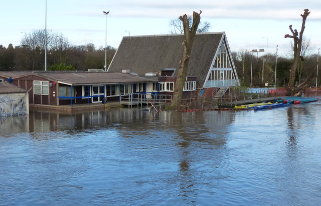 Flooding at Leicester Outdoor Pursuits Centre