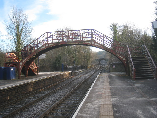 The station footbridge, Riding Mill