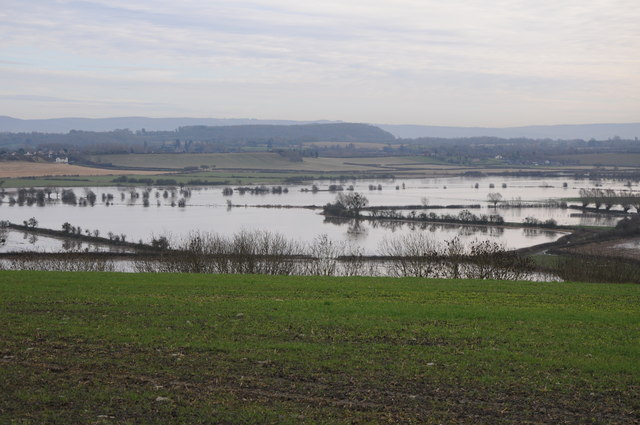 Flooded Longdon Marsh