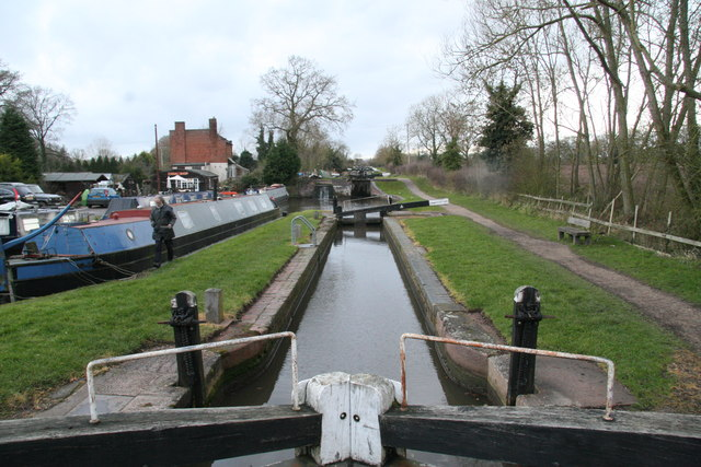 Stratford Canal - locks at Lapworth
