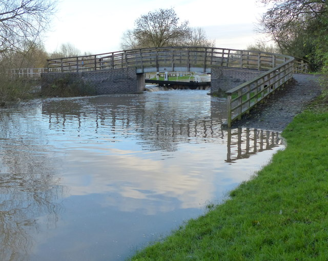 Submerged towpath in Birstall
