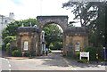 TQ5839 : Victoria Lodge and Arch by N Chadwick