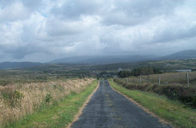 The moorland road from Dunglow at Drumlaghdrid