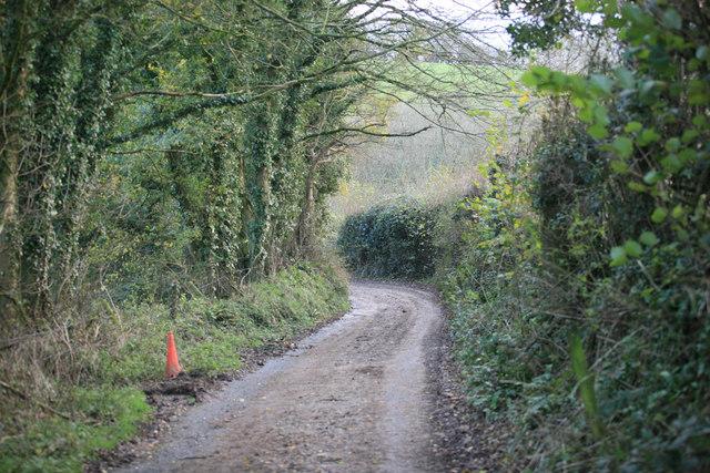 Muddy Cornish lane Talvan