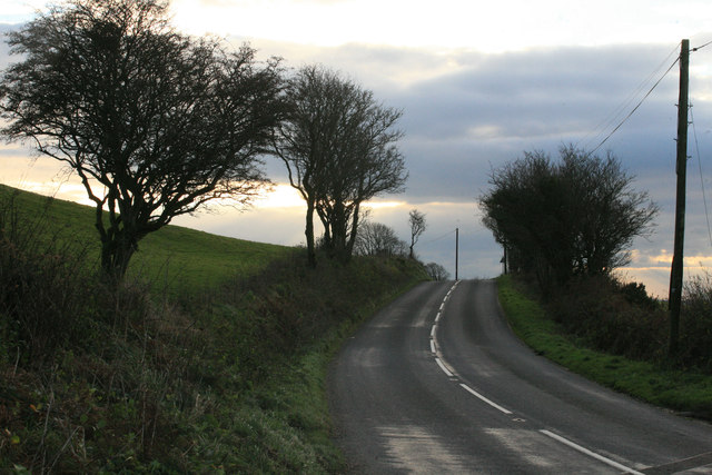 Looking towards Lanreath on the B3359