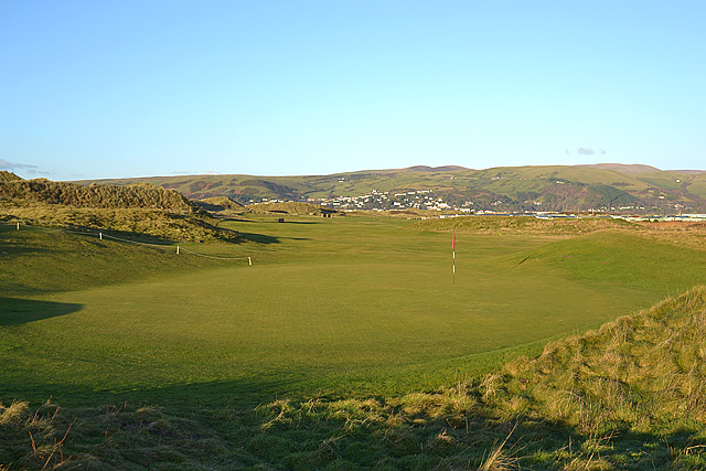Green, Borth golf course