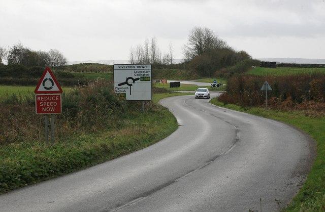 The A388 ahead