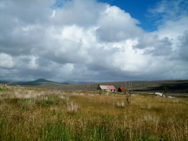 Derelict farmstead on the moorland between Diamond and Croaghnashallog Bridge