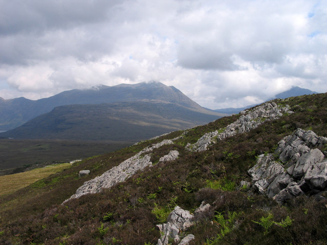 Limestone outcrops on Creag Ghlas