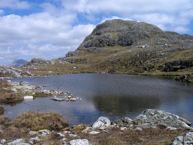 Lochan west of summit of Sgùrr a' Gharaidh