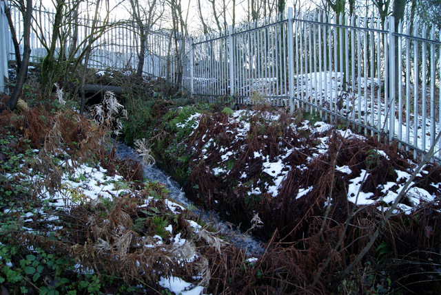 Water channel at Drumfrochar Road