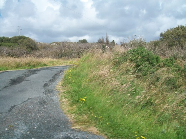 Farm access lane at Upper Derrydruel