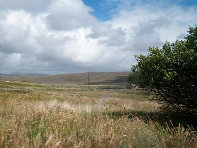 Moorland east of the road in the townland of Meenlecknalore