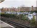 TQ1867 : Surbiton Station car park by Hugh Venables