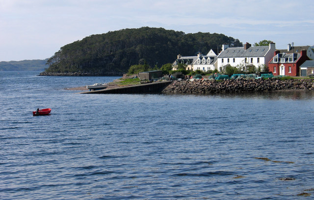 Jetty and houses at  Shieldaig