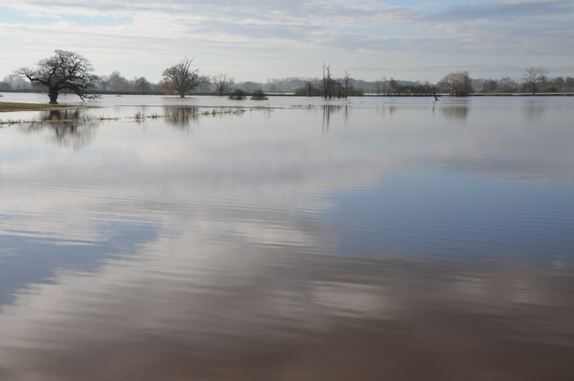 Flooded land at Severn Stoke