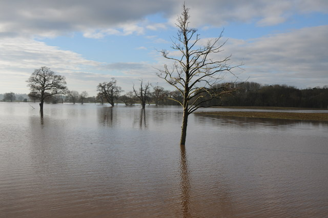 Flooding at Sandford, Severn Stoke