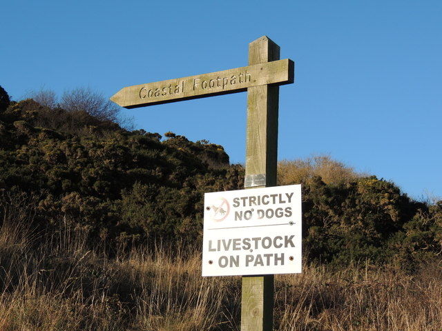 Stairhaven Coastal Path Signs