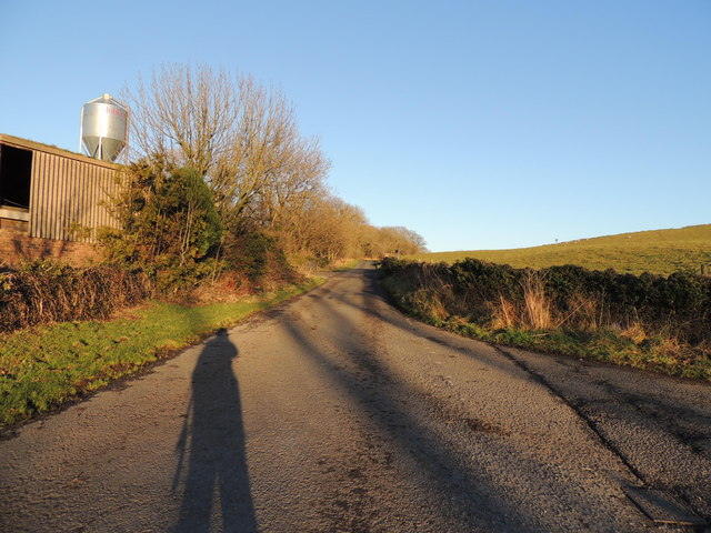 Road to the A747 at South Milton