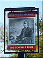TL7807 : The Generals Arms - inn sign by Robin Webster