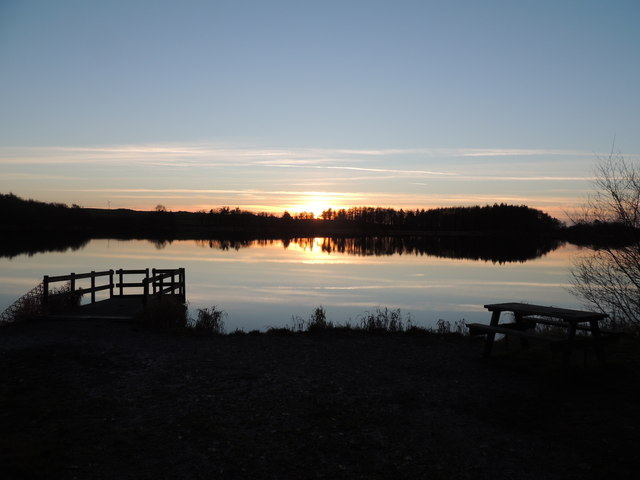 Sunset at Whitefield Loch