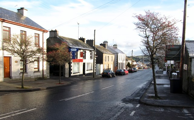 Houses and shops on Castlewellan Road, Hilltown