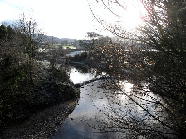 The confluence of the Bann and Leiter Rivers at Hilltown