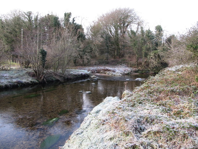 The confluence of the Bann and Leiter Rivers from the footbridge