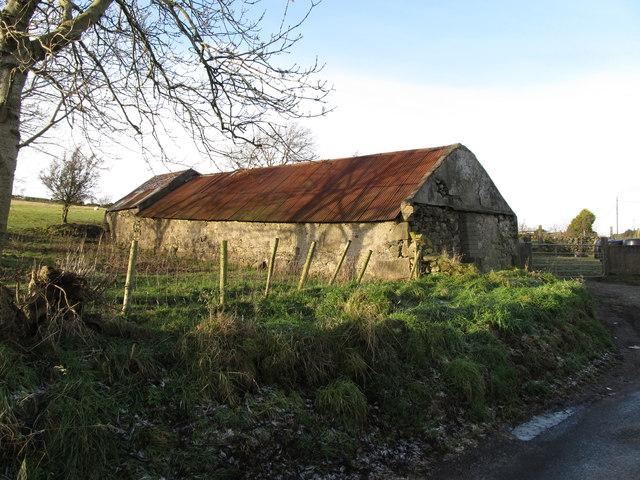 Old farm buildings on the New Line