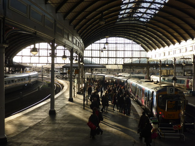 Newcastle Central Station : Waiting On Platform 9