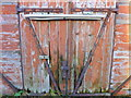 TR0262 : Old door at Iron Wharf, Faversham by pam fray