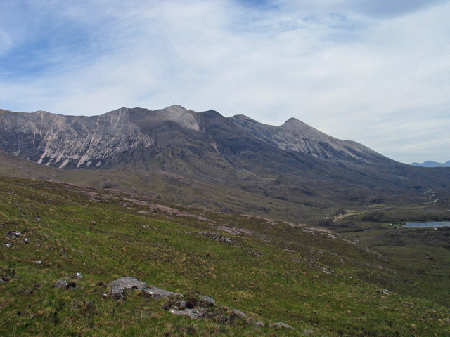 Eastern slope of Seana Mheallan