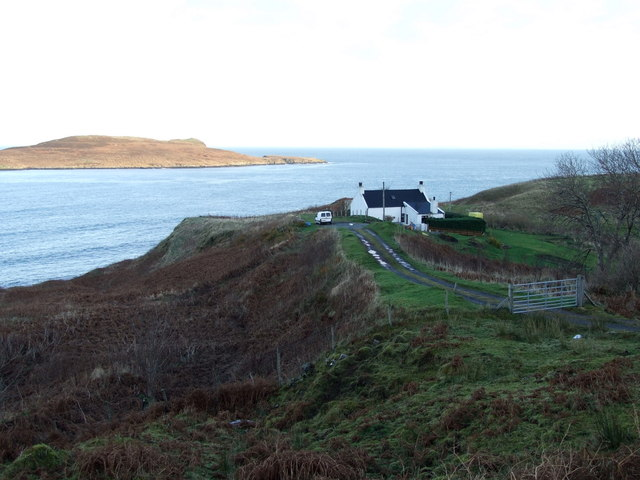 House near the shore at Flodigarry