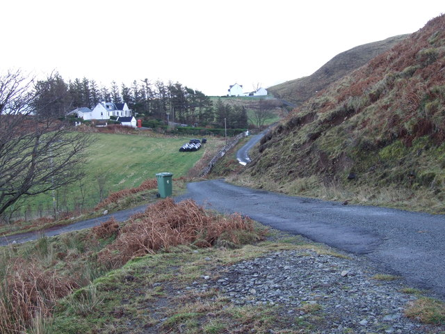 Minor dead end road at Flodigarry