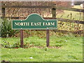 TL2860 : North East Farm sign by Adrian Cable