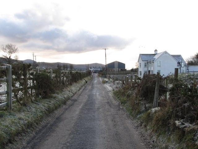 View south towards the junction with Leitrim Road