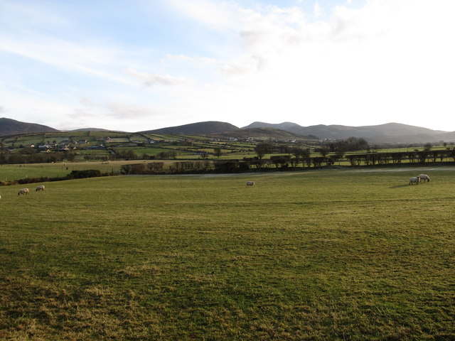 Farmland south of the town of Hilltown