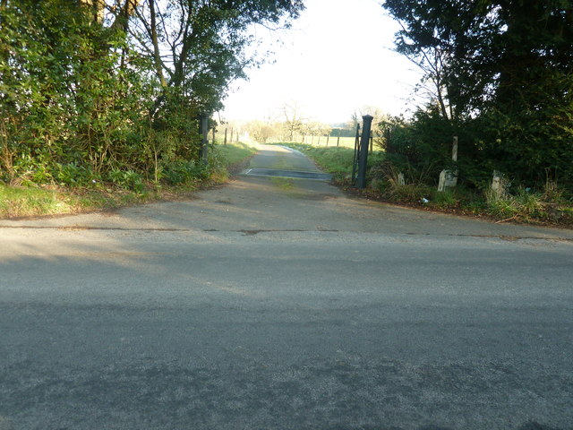 Cattle grid at the entrance to Mayes House and farm